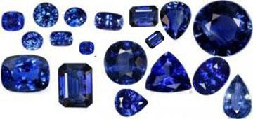Blue Sapphire Gemstone in Hindi